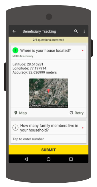 location question, collect, data validations