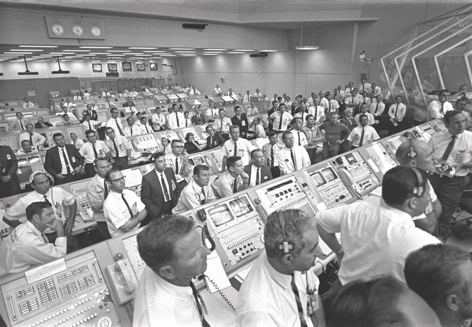 Mission control during the Apollo 11 mission